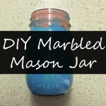 Simple Craft Sunday: DIY Marbled Mason Jar